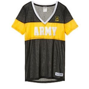 VS pink army jersey shirt bling xtra small